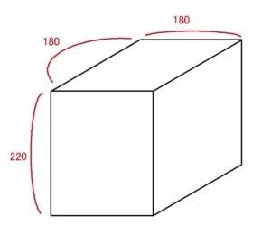 2畳 トランクルームの大きさ 目安図