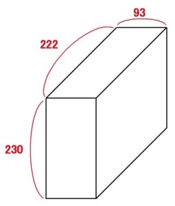 屋外型トランクルーム 1.3畳 目安図