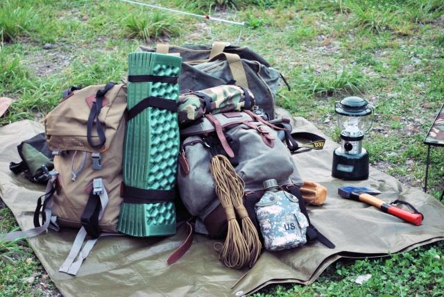 キャンプ用品の写真